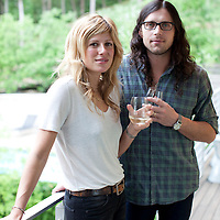 Kings of Leon Drummer, Nathan Followill, with his wife, singer-songwriter Jessie Baylin. Featured in Wine Spectator Magazine.