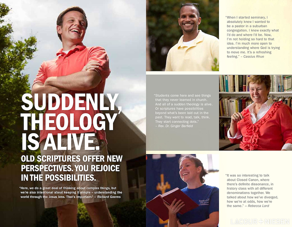 Viewbook for Lutheran Theological Southern Seminary, Columbia, S.C. Design by Mindpower, Inc. (www.mindpowerinc.com)