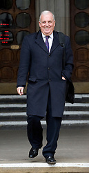 © Licensed to London News Pictures. 09/01/2012. London, UK. Former editor of The Sun newspaper, Kelvin Mackenzie leaving the Royal Courts of Justice after giving evidence at the Leveson Inquiry in to press standards on January 9th, 2012. Photo credit : Ben Cawthra/LNP