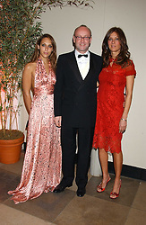 Left to right, SERENA MATTAR, SEBASTIAN SAINSBURY and CARMEN DUDLEY at a charity dinner 'By Imperial Command' - a Chinese New Year Gala Dinner in aid of the charity Kids held at The Banqueting House, Whitehall, London on 8th February 2006.<br />