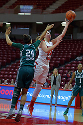 10 December 2017: Megan Talbot defended by Emoni Jackson during an College Women's Basketball game between Illinois State University Redbirds and the Eagles of Eastern Michigan at Redbird Arena in Normal Illinois.