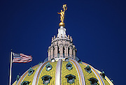 Capitol Dome, Ms. Commonwealth Statue, Harrisburg, Pennsylvania