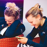 Emma Norsgaard, Katrine Aalerud. 2021 Movistar Team Training Camp, Almería. 11.1.2021.