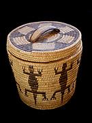 Tohono O'odham lizard basket from Arizona, Fred and Randi Hirschmann's collection.