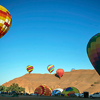 Hot air balloon mass ascension at Red Rock Park, Saturday, July 28 as part of the Route 66 Freedom Ride, Flight and Cruise Weekend.