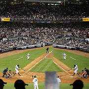 Alex Rodriguez, New York Yankees, fouls a pitch off Dallas Keuchel, Houston Astros, during the New York Yankees Vs Houston Astros, Wildcard game at Yankee Stadium, The Bronx, New York. 6th October 2015 Photo Tim Clayton for The Players Tribune