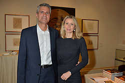 LONDON, ENGLAND 28 NOVEMBER 2016: Steve & pippa Petrow at a reception to celebrate the publication of The Sovereign Artist by Christopher Le Brun and Wolf Burchard held at the Royal Academy of Art, Piccadilly, London, England. 28 November 2016.