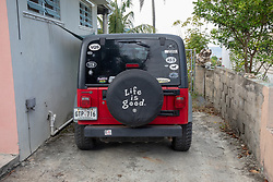 Life Is Good Sign On Jeep