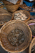 Dried fish in market<br /> Meghalaya,  ne India