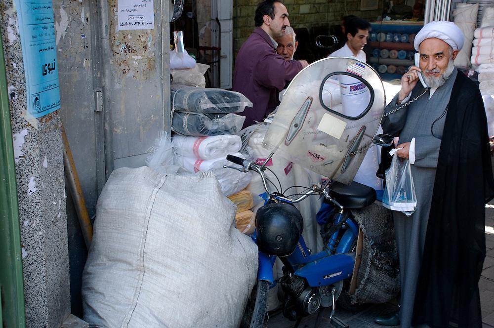 Mollah at the souk in Teheran.