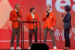02-01-2018 NED: PloegpresentatieTeamNL, Arnhem<br /> Het Olympisch Team tijdens de teamoverdracht van Olympic en Paralympic TeamNL voor de Olympische Spelen van Pyeongchang / Vlnr Arie Koops, Jeroen Otter en Frank Germann