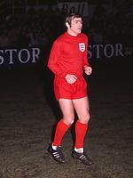 Football - England - 1969 / 70  Season<br /> Terry Cooper (England) Belgium v England 25/02/1970 Credit : Colorsport