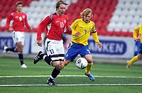 Fotball<br /> Landskamp G15<br /> Alfheim Stadion<br /> 12.09.2006<br /> Norge v Sverige 1-1<br /> Foto: Kaja Baardsen, Digitalsport<br /> <br /> Stefan Johansen - Bodø/Glimt og Norge<br /> Filip Stenstrøm - Sverige