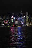 Symphony of Lights is a synchronised building exterior decorative light and laser multimedia display, featuring 44 buildings on the Hong Kong Island side of Victoria Harbour of Hong Kong accompanied by symphonic music.  The sound and light show is organized by the Hong Kong Tourism Board and displayed every night at 8pm, this unique show is an orchestration of music, decoration lights, laser light displays and occasional fireworks during special occasions such as Chinese New Year. The multimedia light and sound show lasts for about 15 minutes.