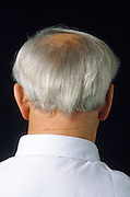 back of man?s neck and head