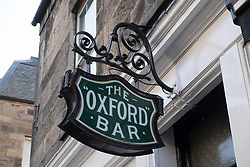 Oxford Bar in Edinburgh featured in Ian Rankin's crime novels about Inspector Rebus