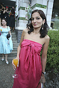 Yasmin Mills, Stephen Jones Summer Hat party to celebrate 25 years of Milllinery. Debenham House, 8 Addison Rd. Holland Park, London. 13 July 2006.  ONE TIME USE ONLY - DO NOT ARCHIVE  © Copyright Photograph by Dafydd Jones 66 Stockwell Park Rd. London SW9 0DA Tel 020 7733 0108 www.dafjones.com