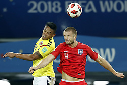 (l-r) Luis Muriel of Colombia, Eric Dier of England during the 2018 FIFA World Cup Russia round of 16 match between Columbia and England at the Spartak stadium  on July 03, 2018 in Moscow, Russia