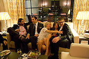 DAVID DE ROTHSCHILD, DAVID WALLIAMS, MARTHA WARD, JEMIMA KHAN AND JAY JOPLING. Fashion Fringe 2008 - launch dinner hosted by Elizabeth Saltzman for Donatella Versace. Claridge's Hotel, Brook Street, Mayfair, London. 11 March 2008.  *** Local Caption *** -DO NOT ARCHIVE-© Copyright Photograph by Dafydd Jones. 248 Clapham Rd. London SW9 0PZ. Tel 0207 820 0771. www.dafjones.com.