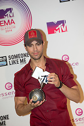 Enrique Iglesias, backstage at the winners room at the MTV EMA's 2014, Glasgow, Scotland