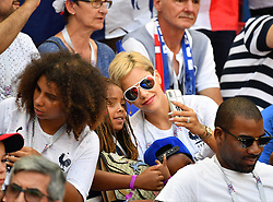Isabelle Matuidi with her son during the World Cup 2018, France vs Argentina at the Kazan Arena stadium in Kazan, Russia on June 30, 2018. Photo by Christian Liewig/ABACAPRESS.COM
