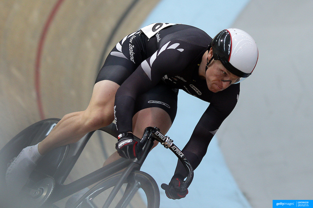 Matthew Archibald, New Zealand, in action during the Men Keiran at the 2012 Oceania WHK Track Cycling Championships, Invercargill, New Zealand. 21st November  2011. Photo Tim Clayton