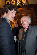 BENEDICT CUMBERBATCH;; MIKE ATTENBOROUGH; ; , The Almeida Theatre  celebrates Mike Attenborough's 11 brilliant years as Artistic Director. Middle Temple Hall,<br /> Middle Temple Lane, London, EC4Y 9AT