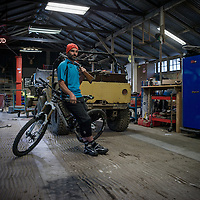 Mark Weir, mountain bike rider, legend, tough guy, Novato, California.