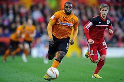 Wolves Forward Sylvan Ebanks-Blake (ENG) breaks during the first half of the match - Photo mandatory by-line: Rogan Thomson/JMP - Tel: Mobile: 07966 386802 01/12/2012 - SPORT - FOOTBALL - Ashton Gate - Bristol. Bristol City v Wolverhampton Wanderers - npower Championship.