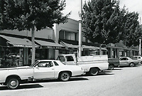 1977 Jurgensen Grocer and other shops on Larchmont Blvd.