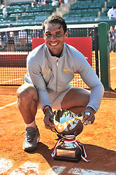 April 22, 2018 - Monte Carlo, Monaco - RAFAEL NADAL of Spain with the trophy after winning the Monte Carlo Rolex Masters tennis tournament, at Monte Carlo Country Club. (Credit Image: © Panoramic via ZUMA Press)