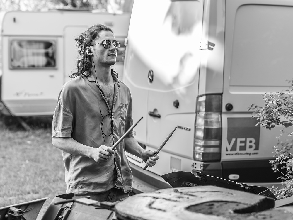 Jake Leff of British indie-rock band Cassia backstage at the Open Ohr Festival