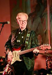 08 November 2014. New Orleans, Louisiana. <br />  2014 International Irish Famine Commemoration, Gallier Hall.<br /> Larry Kirwan, led singer of Irish band 'Black 47.'<br /> Photo; Charlie Varley/varleypix.com