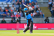 Wicket - Joe Clarke of Worcestershire is bowled by James Faulkner of Lancashire  during the Vitality T20 Finals Day Semi Final 2018 match between Worcestershire Rapids and Lancashire Lightning at Edgbaston, Birmingham, United Kingdom on 15 September 2018.