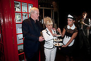 SIR MICHAEL CAINE; BARBARA WINDSOR attend The Galleries of Modern London launch party at the Museum of London on May 27, 2010 in London. <br /> -DO NOT ARCHIVE-© Copyright Photograph by Dafydd Jones. 248 Clapham Rd. London SW9 0PZ. Tel 0207 820 0771. www.dafjones.com.