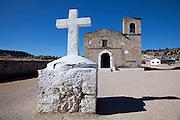 Valley Arareko, Church, Creel, Copper Canyon, Chihuaua, Mexico, cross, white