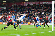 Goal - Florin Andone (10) of Brighton and Hove Albion scores a goal to make the score 1-3during the The FA Cup 3rd round match between Bournemouth and Brighton and Hove Albion at the Vitality Stadium, Bournemouth, England on 5 January 2019.