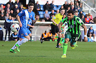 Andy Barcham midfielder for AFC Wimbledon (17) during the Sky Bet League 2 match between Hartlepool United and AFC Wimbledon at Victoria Park, Hartlepool, England on 25 March 2016. Photo by Stuart Butcher.