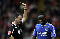 Photo: Paul Thomas.<br /> Liverpool v Chelsea. The FA Barclays Premiership. 19/08/2007.<br /> <br /> Referee Rob Styles gives Michael Essien of Chelsea his first of two yellow cards... or was it??