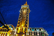 The Clock Tower at Piazza Square Batumi, Adjara, Georgia. Night Photography
