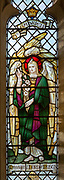 Stained glass window of Saint Gabriel at Waldringfield church, Suffolk, England, UK c 1917 by Powell