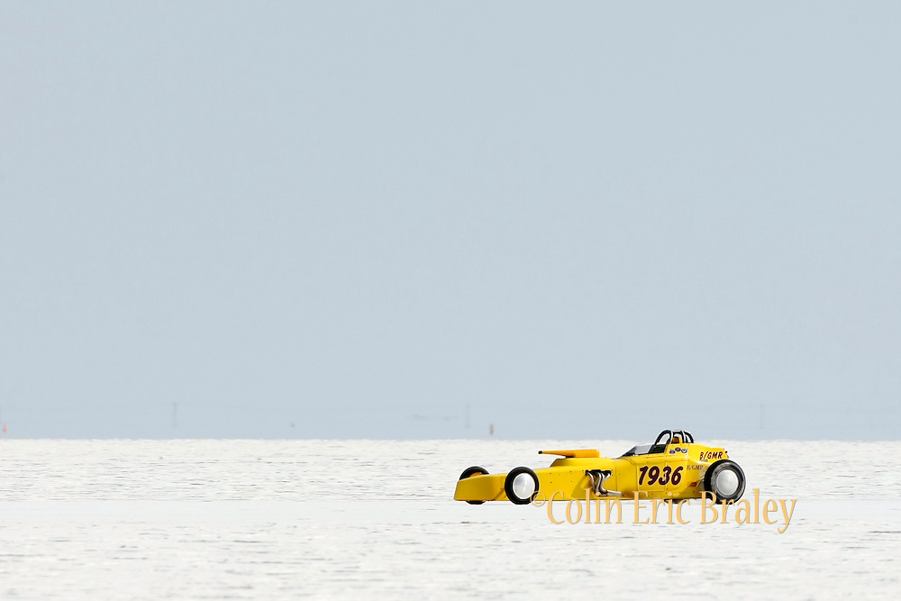 Best-cars-people-atmosphere-photos of 2009 Bonneville Speed Week- Bonneville Bob Racing's 1927 Ford Roadster, driven by Robert Jackson Jr. of Queen Creek, AZ. makes a run at the Bonneville Speed Way. August 9, 2009.  Photo by Colin E. Braley