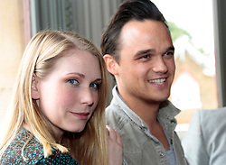 """© Licensed to London News Pictures. 16/07/2012. L-R: Emma Williams and Gareth Gates.  London, England. On Thursday, 19th July, Gareth Gates, Jonathan Ansell, Daniel Boys, Emma Williams and Rachael Wooding perform in """"Momentous Musicals"""", a brand new concert celebration showcasing ballads and songs from musicals for one night only at the New Wimbledon Theatre, London. The show is directed by John Garfield-Roberts with musical direction by John Dyer. Photo credit: Bettina Strenske/LNP"""