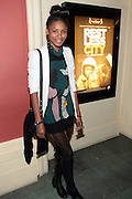 April 27, 2012- New York, NY : Actress/Model Sky Grey attends the New York Premiere of ' RESTLESS CITY ' presented by the African American Film Festival Releasing Movement (AFFRM) held at AMC 25 at 42nd Street on April 27, 20102 in New York City. An Official Sundance Film selection, and Directed by Andrew Dosunmu, RESTLESS CITY tells the story of a young man surviving on the fringes of New York City, where music is his passion, life is a hustle, and falling in love is his greatest risk. (Photo by Terrence Jennings).