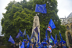 September 5, 2017 - London, England, United Kingdom - A demonstration against Brexit took place near the Houses of Parliament. The process to leave the European Union is starting its third step. (Credit Image: © Alberto Pezzali/NurPhoto via ZUMA Press)