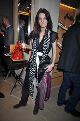 GEORGIE MCINTYRE at a party hosted by TOD's to celebrate the launch of the J.P.Loafer collection, held at the TOD's Boutique, 2-5 Old Bond Street, London on 31st March 2009.