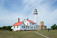 Whitefish Point Lighthouse and Great Lakes Shipwreck Museum. Upper Peninsula Michigan.