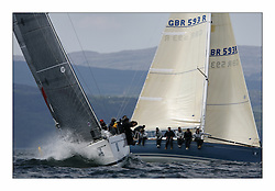 Bell Lawrie Scottish Series 2008. Fine North Easterly winds brought perfect racing conditions in this years event..Class 2 GBR8410R Premier Flair and GBR593R Duckwall Pooley