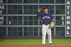 March 26, 2018 - Houston, TX, U.S. - HOUSTON, TX - MARCH 26: Houston Astros infielder Alex Bregman (2) prepares for the next batter during the game between the Milwaukee Brewers and Houston Astros at Minute Maid Park on March 26, 2018 in Houston, Texas. (Photo by Ken Murray/Icon Sportswire) (Credit Image: © Ken Murray/Icon SMI via ZUMA Press)
