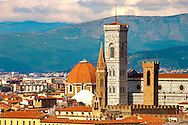 The Dome & Bell Tower over the roof tops - Florence Italy. .<br /> <br /> Visit our ITALY PHOTO COLLECTION for more   photos of Italy to download or buy as prints https://funkystock.photoshelter.com/gallery-collection/2b-Pictures-Images-of-Italy-Photos-of-Italian-Historic-Landmark-Sites/C0000qxA2zGFjd_k<br /> .<br /> <br /> Visit our MEDIEVAL PHOTO COLLECTIONS for more   photos  to download or buy as prints https://funkystock.photoshelter.com/gallery-collection/Medieval-Middle-Ages-Historic-Places-Arcaeological-Sites-Pictures-Images-of/C0000B5ZA54_WD0s